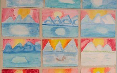Weekly Photo: 4th Grade Paintings