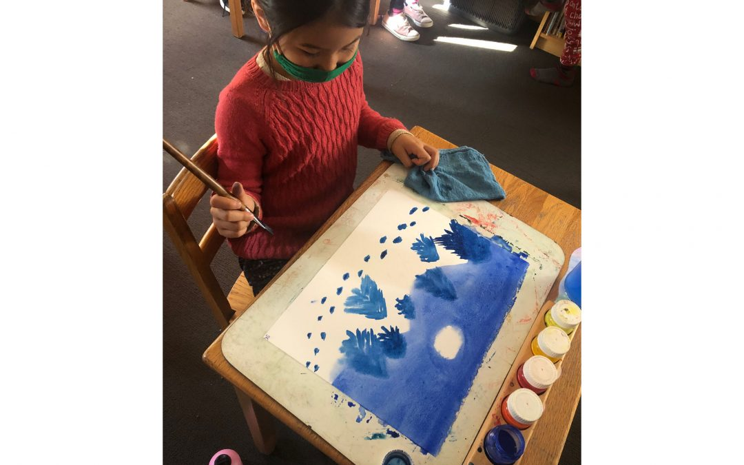 Weekly Photo: Painting in the Third Grade