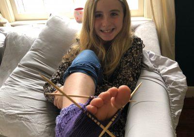 5th Grade Handwork Socks Knitting Sophie