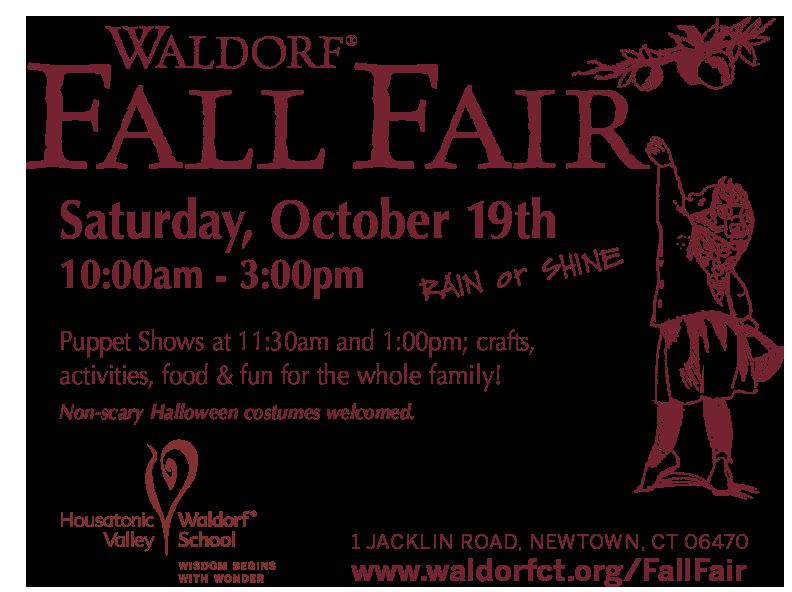 Fall Fair at HVWS on Saturday, October 19, 2019